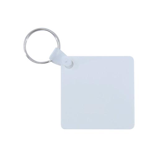 Műanyag kulcstartó négyzet alakú
