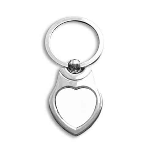 Fém kulcstartó szív  alakú (kisebb)